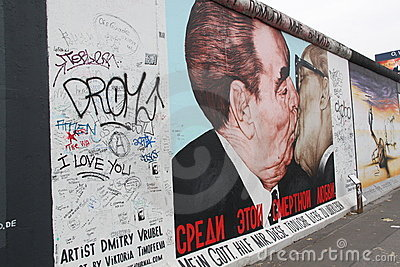 The Kiss, Berlin Editorial Stock Image