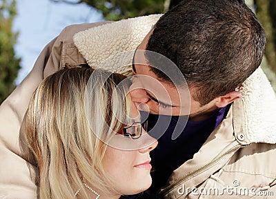 Kiss on brow