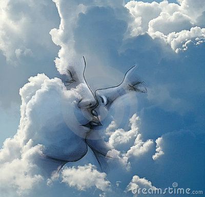Kiss in the clouds