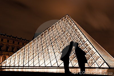 Kiss at the Louvre in Paris France Editorial Image