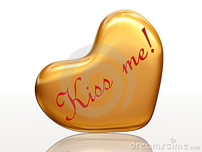 Kiss me in golden heart