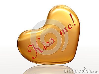 Kiss me in golden heart