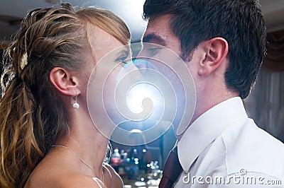 Kiss at party