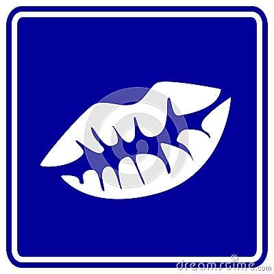 Kiss vector sign