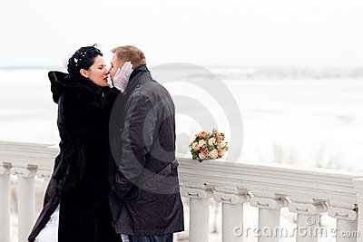 Kiss in winter