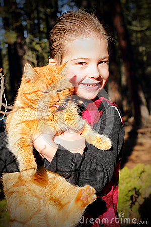 Kissable Boy Loves Kitty