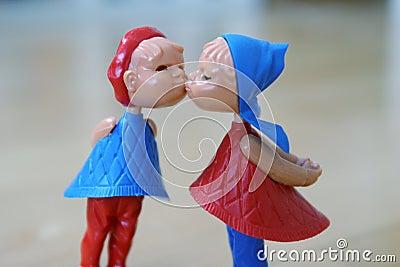 Kissing couple closer