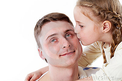Kissing father