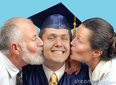 Kissing the new graduate