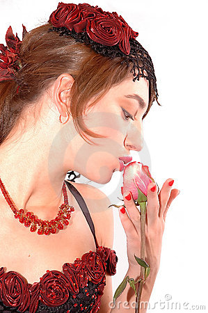 Kissing the rose