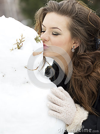 Kissing the snowman
