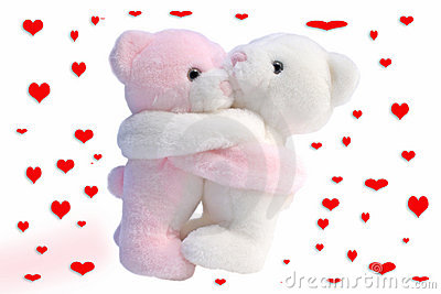 Kissing Valentine bears