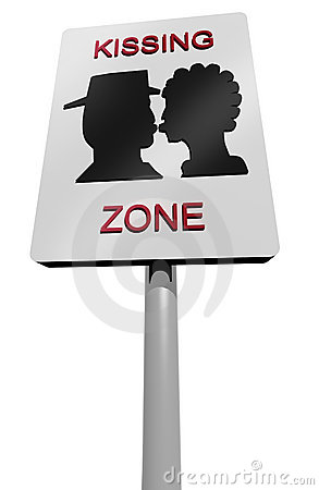 Kissing zone sign