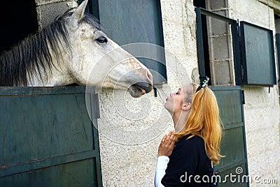 Kisssing horse