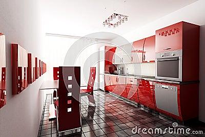 Kitchen 3d render