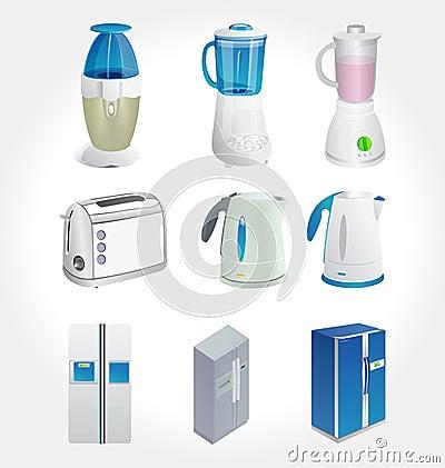 Free Kitchen Appliances  Stock Image - 24938041
