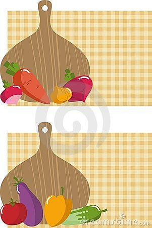 Kitchen board with vegetables