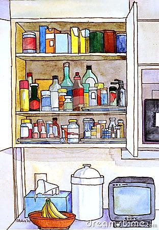Kitchen cabinet clipart - Gallery For Gt Cartoon Kitchen Cabinet