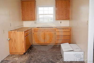 Kitchen cabinets without countertop