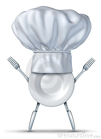 Kitchen chef symbol with fork plate and knife