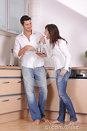 Kitchen couple