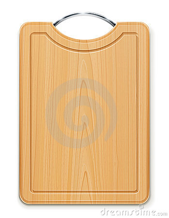 Kitchen cutting board with handle