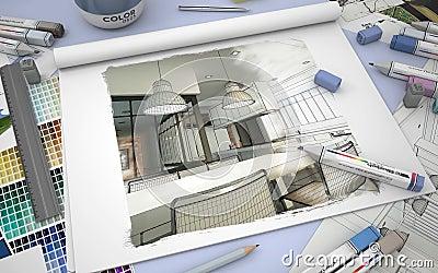Kitchen Design Stock Illustration Image 69513811