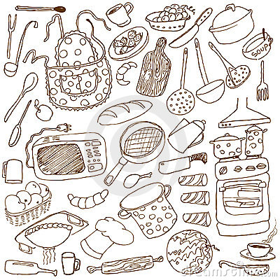 Free Kitchen Doodles Royalty Free Stock Photo - 10992855