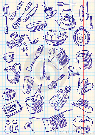 Free Kitchen Doodles Stock Image - 14609641