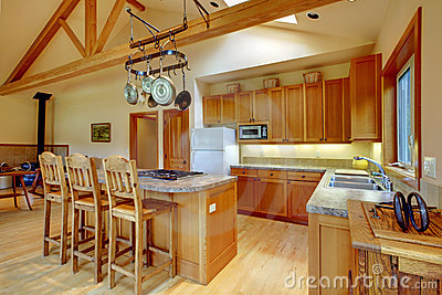 Kitchen, horse ranch.