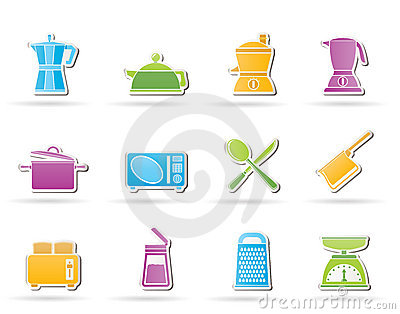 Kitchen and household equipment icon