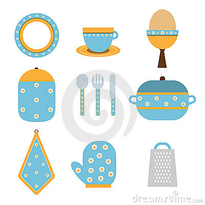 Free Kitchen Icons Royalty Free Stock Image - 14245076