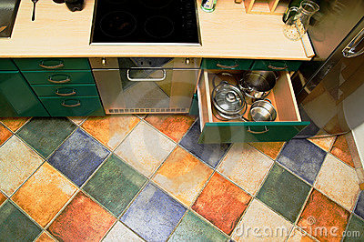 Kitchen interior floor