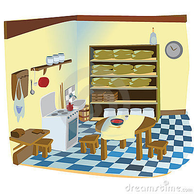 Free Kitchen Interior Scene Royalty Free Stock Photography - 11859557
