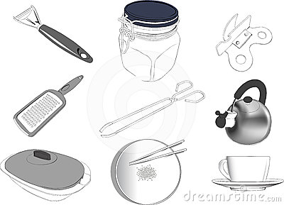 Kitchen items set