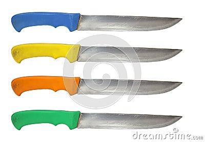 Kitchen knife used set