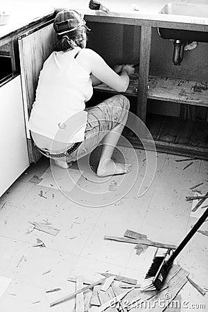 Free Kitchen Makeover Stock Photo - 6035250