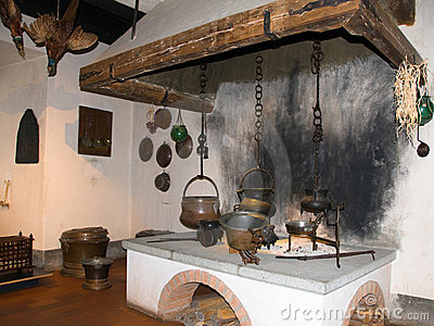 Kitchen of medieval castle