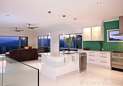 Kitchen With Mountain Views