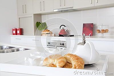 Kitchen in new modern townhouse