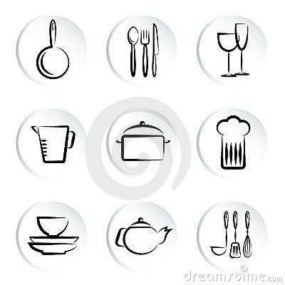 Kitchen object icons