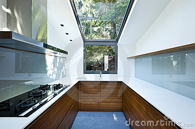 Kitchen with panoramic window