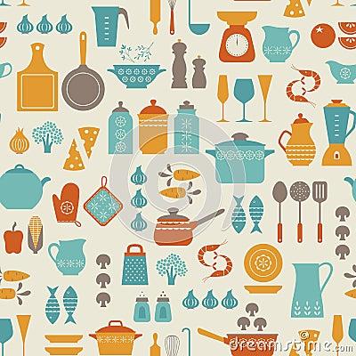 Free Kitchen Pattern Royalty Free Stock Photos - 41594008