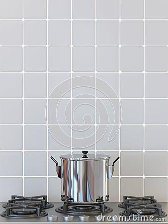 Kitchen pot on gas stove