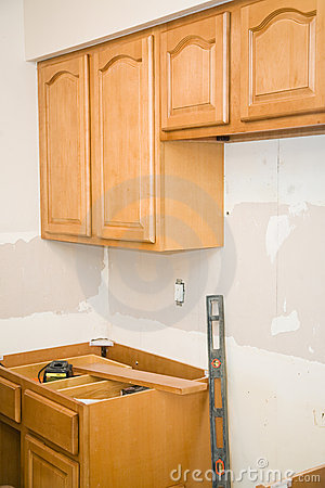 Kitchen Remodel - Cabinets Royalty Free Stock Photo - Image: 6883525