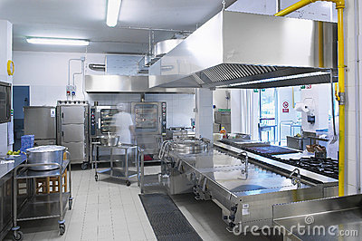 A kitchen of a restaurant