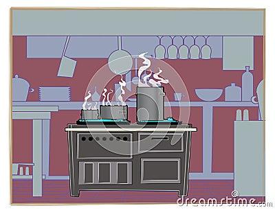 Kitchen Restaurant Background Stock Image Image 13231491