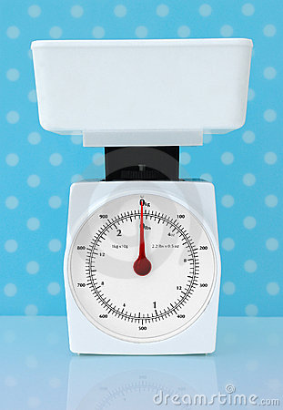 Kitchen Scales Weight Loss Diet Concept Royalty Free Stock Image - Image: 9917386