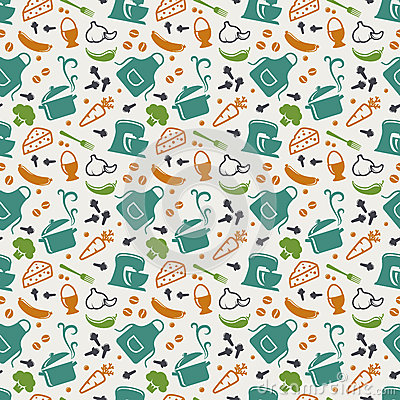 Free Kitchen Seamless Pattern. Vector Background. Stock Photos - 52677013