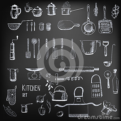 Free Kitchen Set Royalty Free Stock Image - 42298436